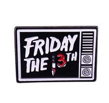 Jason Voorhees Enamel Pin Friday the 13th Horror Movie Lapel Pin Halloween