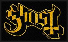 """Ghost Logo - Woven Sew On Patch 4"""" x 2.5"""""""