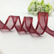"5yds 3/4"" (20mm) Satin Edge Organza Ribbon Bow Wedding Decoration Lace Crafts CA"