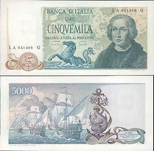 5.000 LIRE COLOMBO 3 CARAVELLE DEC.20/05/1971 FIOR DI STAMPA