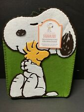 Pottery Barn Kids THANKSGIVING Snoopy Woodstock PEANUTS Chairbacker Holiday NEW