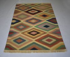 Cotton Handmade Kilim Home Living Room Decoration Area Rug 4'x 6' DN-1453