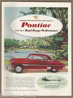 1952 PONTIAC advertisement, Pontiac Coupe red hardtop Large size advert