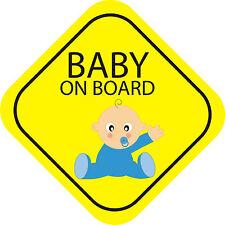 Baby On Board Boy Exterior Bumper Window Sticker Decal Graphic Vinyl Label V1