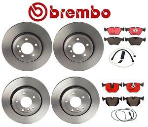 Front & Rear Full Brembo Brake Kit Disc Rotors Ceramic Pads Sensors For BMW E46
