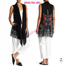 JOHNNY WAS JWLA Embroidered Selena Artsy Vest Boho Tunic Duster XL X-Large $328