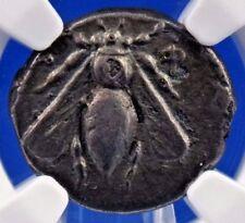 Ionia, Ephesus 4th Century BC AR Drachm NGC Certified Ch F