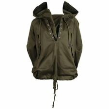 CELINE Phoebe Philo olive green anorak pullover jacket with hood & pockets M