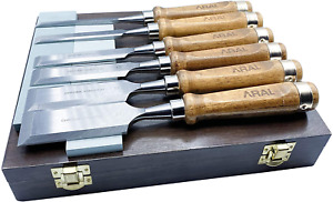 Gouge Wood Chisel Set Lathe Chisels Woodworking Tools With Case Walnut Handle