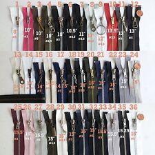 "Open End Separating Metal Jacket Zippers- 8"" 10"" 11"" 12"" 13"" 14"" 15"" Zipper Mmj1"
