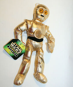 "1997 Disney Star Wars Buddies C-3PO Robot 8"" Bean Bag Plush Toy Doll New w/ tag"