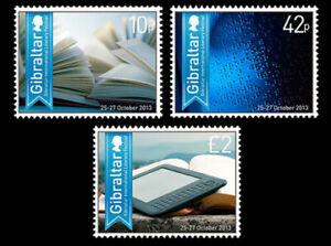 Gibraltar 2013 - Literary Festival - Set of 3 - MNH