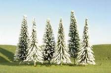 "BACHMANN SCENE SCAPES 3"" - 4"" PINE TREES w/ SNOW  9 TREES/BOX N SCALE"