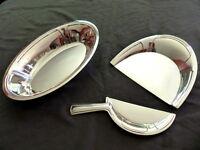 CHRISTOFLE Rare SET Antique Bread crumb scoop & Fruits dish ART DECO 1930