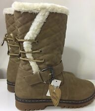 Size 6 Love My Boots Winter Warm Fleece Lined mid calf Buckle slip On Boots