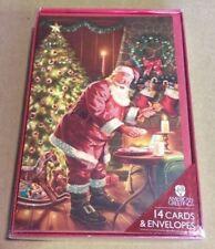 American Greetings Christmas Cards Santa Taking A Cookie 14ct