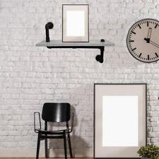 Industrie Look Wandregal Bücherablage Wohnzimmer Metallrohre Dekoration Folie