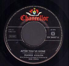 "FRANKIE AVALON – After You've Gone (1962 ROCK & ROLL VINYL SINGLE 7"" HOLLAND)"