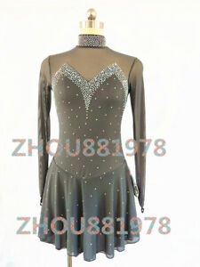 Free shipping New Girls women Ice Figure Skating Dress For Competition gary