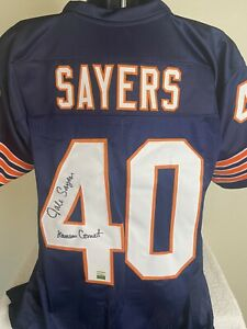GAYLE SAYERS SIGNED AUTOGRAPHED  CHICAGO BEARS JERSEY SAYERS HOLOGRAM