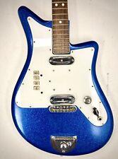 Vintage Morbidoni Dega Blue Sparkle Electric Guitar. Made in Italy.