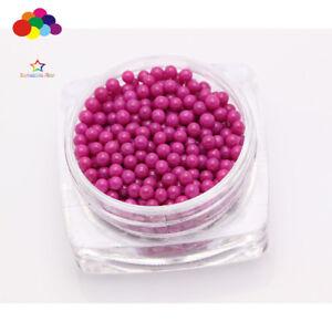 Dark rose A 1000 pcs Glass small Beads No Hole 1.5-2mm Nail Art Caviar