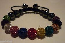 New Shamballa Multicolour Czech Crystal Bracelet - Bangle