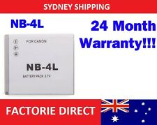Replacement Battery NB-4L NB4L Canon Powershot SD200 SD30 SD300 SD400