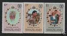 Swaziland 1981 Royal Wedding SG 376/8 MNH