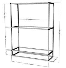 Scaffale di alluminio per 2 -3 x 60x30x30cm ACQUARI-terrari