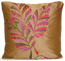 Embroidered Cushion Cover Designers Guild Delacroix Silk Fabric