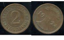 ALLEMAGNE 2  rentenpfennig  1924 E