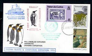 Tristan da Cunha 1976 Antarctic Territory MS Lindblad Explorer Expedition Cover