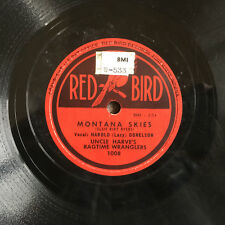UNCLE HARVE'S RAGTIME WRANGLERS Montana Skies/Rainbow of Roses RED BIRD E-/V+ 78