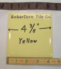 4x4 Vintage Bullnose Tile in Saffron Yellow /'Robertson/' Salvaged Per Piece