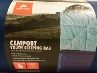OZARK TRAIL YOUTH CAMPING SLEEPING BAG - BLUE AND TEAL