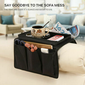 5 Pockets Sofa Arm Rest TV Remote Control Tidy Organizer Holder Chair Couch Bag