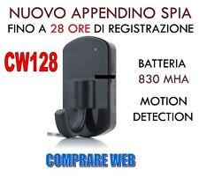 APPENDINO SPIA HD APPENDI ABITI FINTO CAMERA VIDEOCAMERA SPY SPYCAM CIMICE CW128