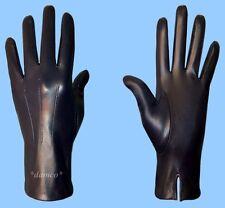 NEW MENS size 9.5 NAVY (dark blue) SILK LINED GENUINE KID LEATHER DRESS GLOVES