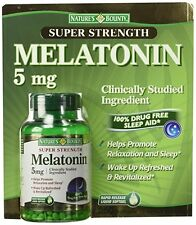 Nature's Bounty Super Strength Melatonin 5 mg 250 softgels