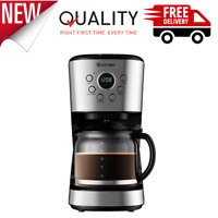 LCD Display Programmable Coffee Maker Brew Machine 12 Cup High Temperature NEW