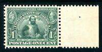USAstamps Unused XF-Superb US 1907 Jamestown Scott 328 OG MNH