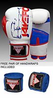 PRO LEATHER BOXING GLOVES MUAY THAI PUNCHING BAG SPARRING GLOVES KICK BOXING