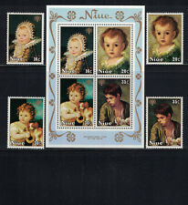 Br CW: Niue 1979: #237-240a + B8-B11 Year Child-Paintings, Artists NH- Lot#8/8