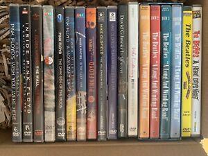 18 Musik-DVDs Pink Floyd, Beatles, Mike Oldfield, Udo Lindenberg