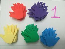 Craft Foam Shapes Hands 50 pcs