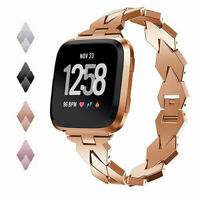 Wristband Bracelet Stainless Steel Strap Watch Band For Fitbit Versa / 2 Smart