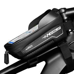 Vordere Oberrohrtaschen Handytasche TPU Touchschirm Aufbewahrungstasche mit Touchscreen TOKYMOON Fahrrad Rahmentasche wasserdichte Fahrradtasche Handyhalterung