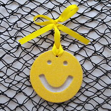 SMILEY FACE Made with Sand Tropical Beach Ornament
