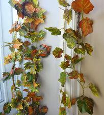 "4x100"" Autumn Grape Leaf Vines Artificial Ivy Garland Wall Decoration"